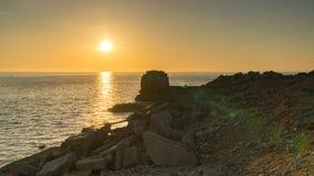 Predikstolen vaggar, ön av Portland, den Jurassic kusten, Dorset, UK Royaltyfria Foton