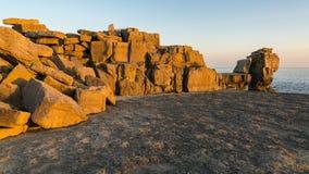 Predikstolen vaggar, ön av Portland, den Jurassic kusten, Dorset, UK Royaltyfri Bild