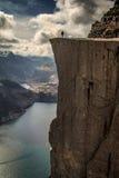 Predikstolen vaggar Norge Preikestolen Royaltyfria Foton