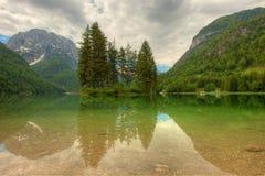 Predil lake in Italian Alps Royalty Free Stock Photography