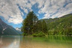 Predil lake in Italian Alps Royalty Free Stock Photos