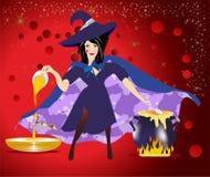 Predizione di sera con la strega, royalty illustrazione gratis