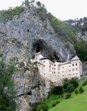 Predjama城堡横向,斯洛文尼亚 库存照片
