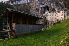 Predjama Castle, Europe, Slovenia. Ancient Predjama Castle in Europe, Slovenia Stock Photo