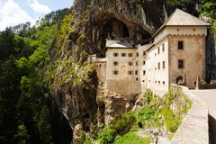 Predjama castle gates Royalty Free Stock Photos