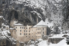 Predjama Castle in Postojna Cave, in the winter Stock Photography