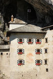 Predjama Castle, Slovenia. A view of the windows of the medieval castle at Predjama, Slovenia Stock Images