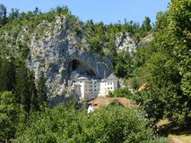 Predjamski grad, the castle in the rock, Slovenia Stock Photos