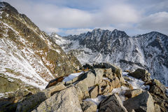 Predne Solisko chez haut Tatras Photo stock
