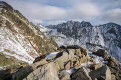 Predne Solisko at High Tatras stock photo