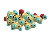Prednisone molecule isolated on white Stock Image