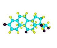 Prednisone molecule isolated on white Stock Photo