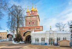 Predtechenskaya bramy kościół zdjęcie royalty free