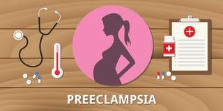 Preeclampsia zwangere de behandelingsleven van de zwangerschaps het medische gezondheid Royalty-vrije Stock Foto's