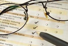 Preencha o exame do feedback Imagem de Stock