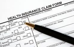 Preencha o formulário de reivindicação médico Imagem de Stock Royalty Free