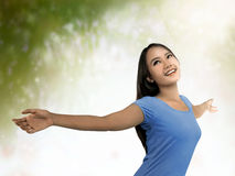 Preety asian woman look healty. She's look healty and happy Royalty Free Stock Photography
