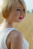 Preety blond woman's portrait Royalty Free Stock Photo