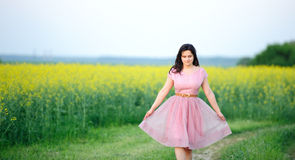 Free Preety Girl Dressed In Pink Royalty Free Stock Image - 24624276