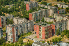 Prefab houses in Karoliniskes, Vilnius, Lithuania Royalty Free Stock Photos