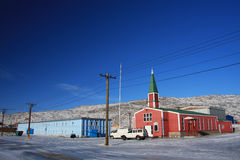 Prefabricated church in Kangerlussuaq, Greenland i Royalty Free Stock Photos
