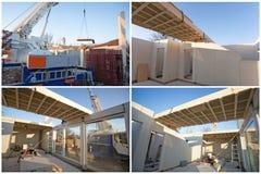 Prefabricated house building Stock Photos