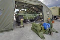 Prefabricated inflatable hangar Stock Photography