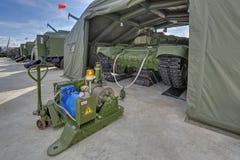 Prefabricated inflatable hangar Royalty Free Stock Image