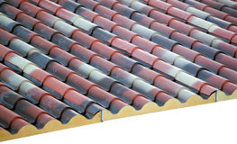 Prefabricated roof polyurethane foam Royalty Free Stock Photo