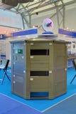 Prefabricated temporary modular post Stock Image