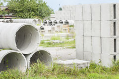 Prefabricatedtconcrete for drains Royalty Free Stock Image