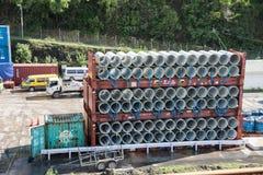 Prefabriceer Concrete Pijp Stock Foto