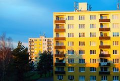 Prefabrykacyjni domy Obrazy Stock