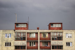 Prefabrykacyjny dom studencki dorm obraz stock