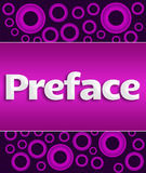 Preface Purple Pink Rings Royalty Free Stock Image