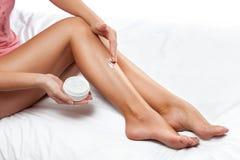 Prefect legs with cream Stock Photo