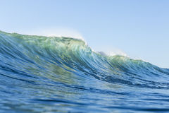 The prefect wave. A hollow wave, the perfect wave for surfing Stock Images