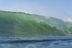 The prefect wave. A hollow wave, the perfect wave for surfing Stock Image