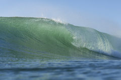 The prefect wave. A hollow wave, the perfect wave for surfing Stock Photo