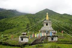Prefectura del Aba en la provincia de Sichuan, montaña de cuatro muchachas Fotos de archivo libres de regalías