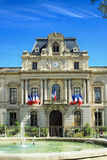 Prefecture in Montpellier, South of France. Prefecture in Montpellier. Prefecture dating from the 19th Century Stock Photo