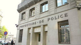 Prefecture of Police of Paris, France stock footage