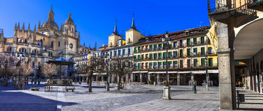 Prefeito da plaza em Segovia, Espanha Fotografia de Stock Royalty Free