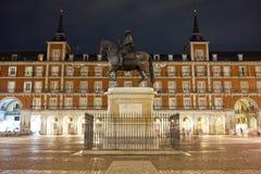 Prefeito da plaza no Madri Fotografia de Stock