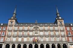 Prefeito da plaza no Madri fotografia de stock royalty free