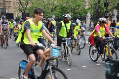 Prefeito do evento do ciclismo do Skyride de Londres em Londres, Inglaterra Imagens de Stock Royalty Free