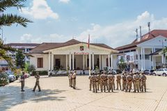 Prefeito Office Balaikota em Bogor, Java ocidental, Indonésia Imagem de Stock