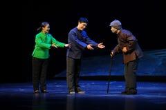 Preferens- behandling av den åldringJiangxi operan en besman Royaltyfri Bild