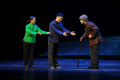 Preferential treatment of the elderly- Jiangxi opera a steelyard Royalty Free Stock Image
