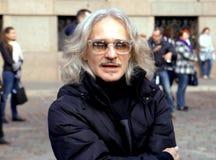 Preferindo a música de Beatles no 75th aniversário do festival de John Lennon em Riga Fotos de Stock Royalty Free